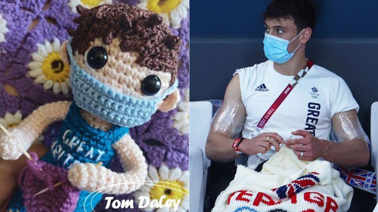 Tom Daley, el clavadista tejedor, agradece a mexicana por hacer su muñequito tejido