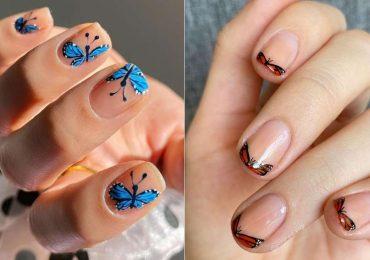 Ideas para llevar tu manicure con mariposas tendencia