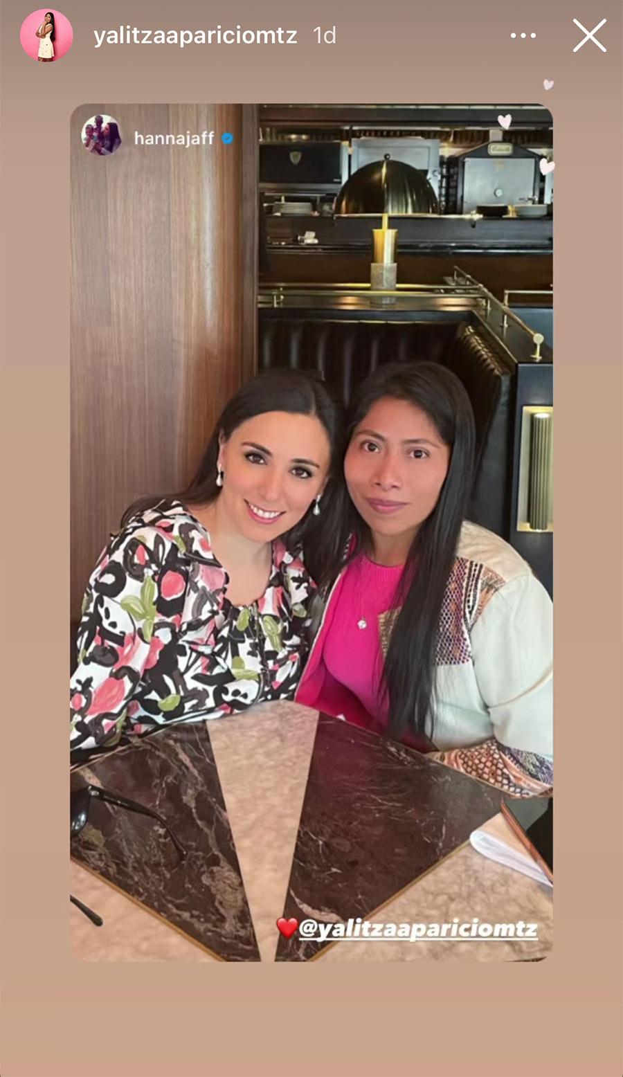 Yalitza Aparicio y su amistad con Hanna Jaff, la mexicana que fue parte de la aristocracia británica