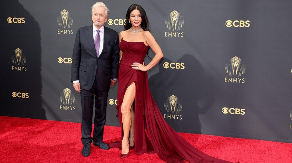 Michael Douglas y Catherine Zeta-Jones en el Emmy