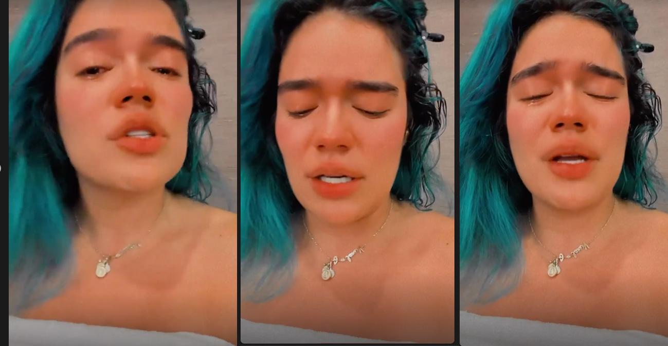 El motivo por el que Karol G lloró desconsolada en Instagram