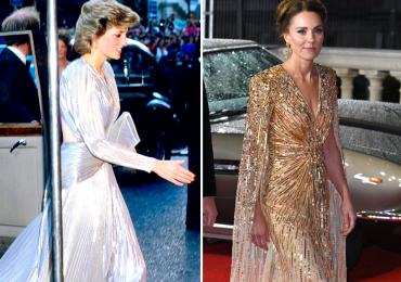 Kate Middleton copió un look a Lady Di que también llevó a un estreno de 007