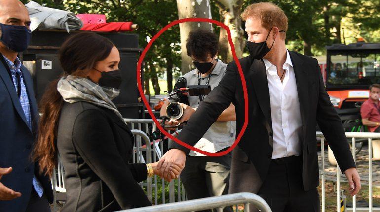 ¿Camarógrafo personal? Se dice que Harry y Meghan Markle podrían estar grabando documental