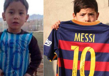 'Sálvenme': niño viral por camiseta de plástico de Messi pide ayuda para huir de los talibanes