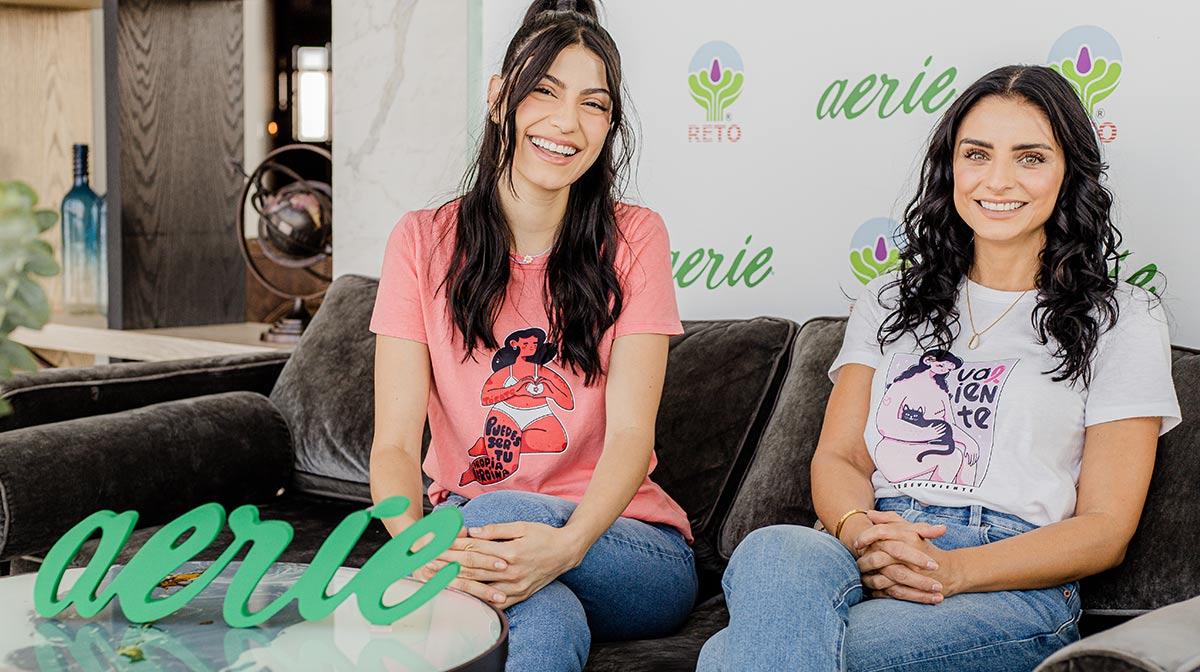 """Aislinn Derbez y Barbara López presentan de la mano de Aerie """"Pink October"""", una campaña para un problema real"""