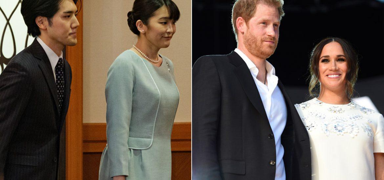 Recién casados, comparan a la princesa Mako de Japón ysu esposo con Harryy Meghan Markle